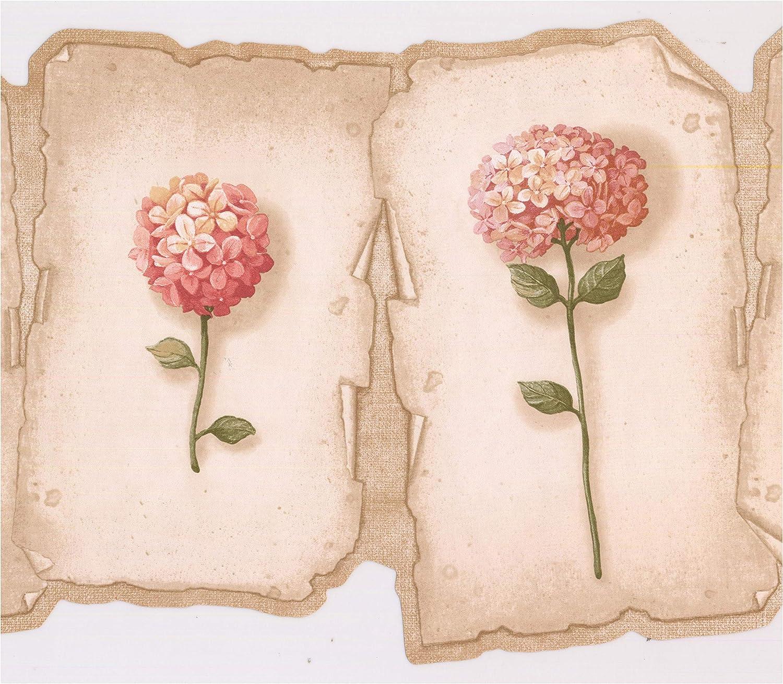 Amazon Com Prepasted Wallpaper Border Hot Pink Hydrangea