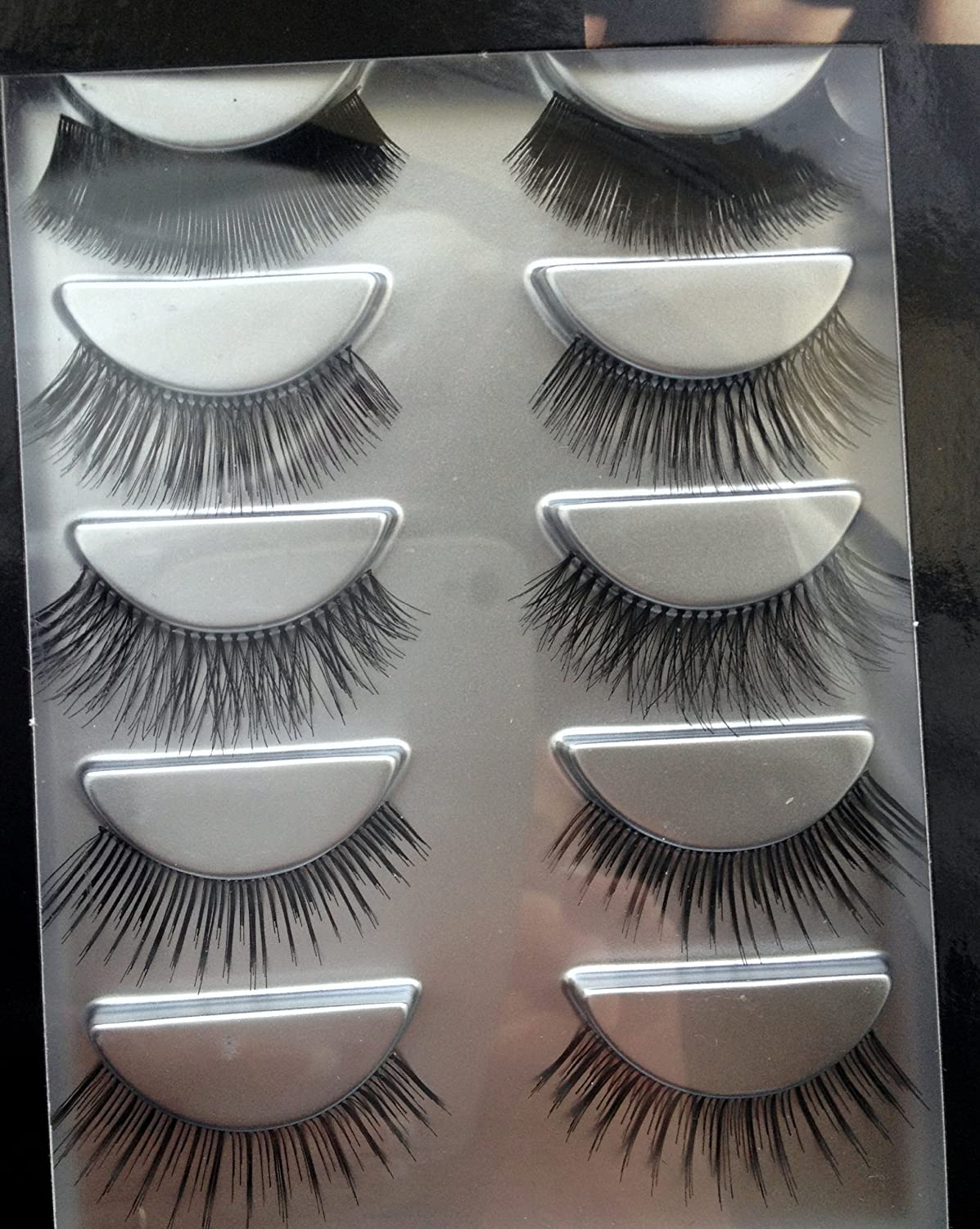 Lumiere Collection Eyes- 5 Pack False Eyelashes With Glue Various ...