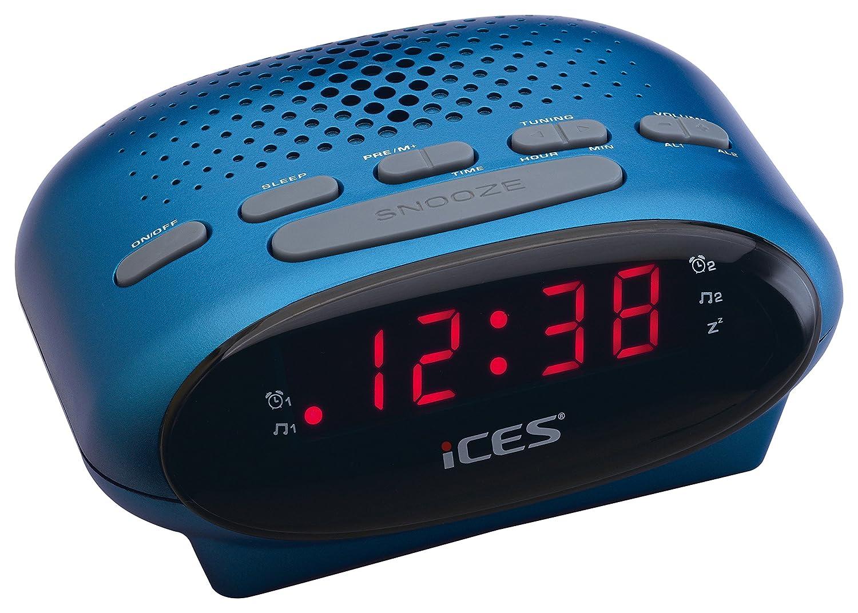 Ices ICR-210 Reloj Negro - Radio (Reloj, LED, FM, PLL)
