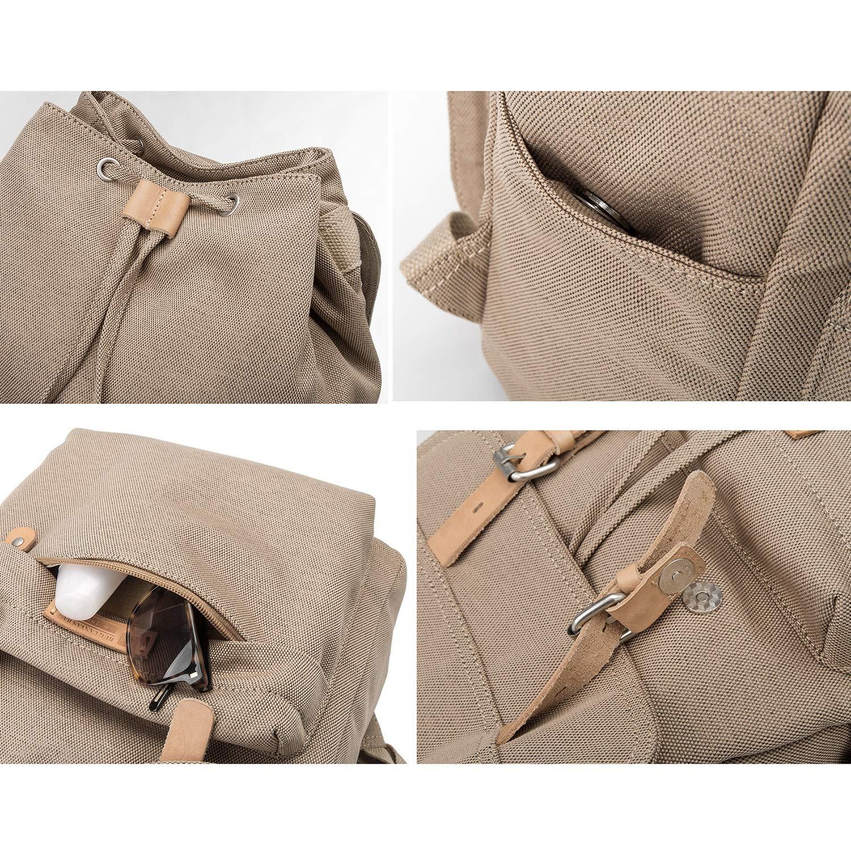 HE-bag Mochilas de Mochilas Lona Vintage Mochilas de para Hombre Bolsos Casuales Unisex Mochila Hombro para IR de excursión de la Escuela de Colegio 451191