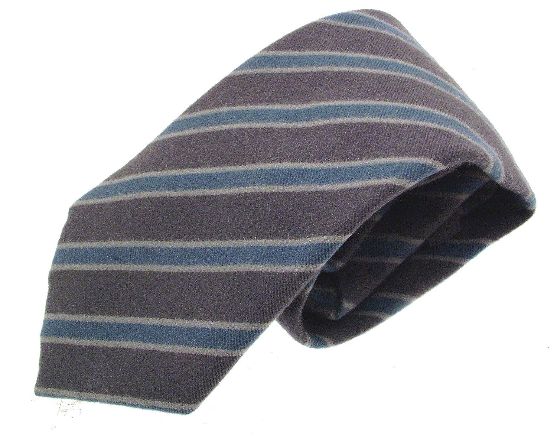 iAuctionShop Corbata de Seda para Hombre, diseño Gris y Azul ...