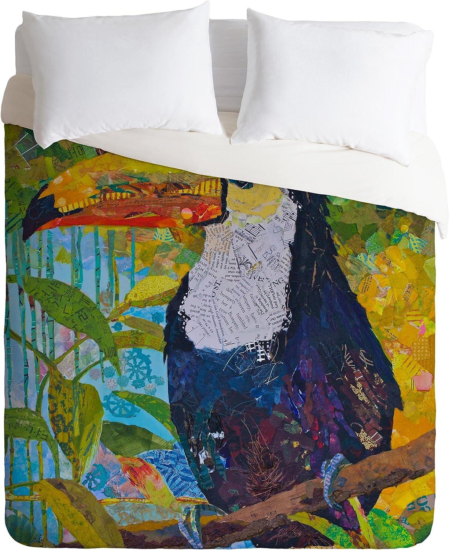 Deny Designs  Elizabeth St Hilaire Nelson Toucan 1 Duvet Cover Twin//Twin XL