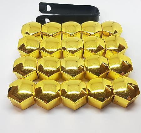 Viktex 20 Radschraubenkappen Abdeckungen Radmuttern Set 17mm Farbe Gold Optik Auto