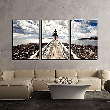 Amazon.com: wall26 - 3 Piece Canvas Wall Art - Marshall Point ...