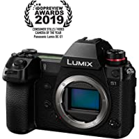 """Panasonic LUMIX S1 Full Frame Mirrorless Camera with 24.2MP MOS High Resolution Sensor, L-Mount Lens Compatible, 4K HDR Video and 3.2"""" LCD - DC-S1BODY"""