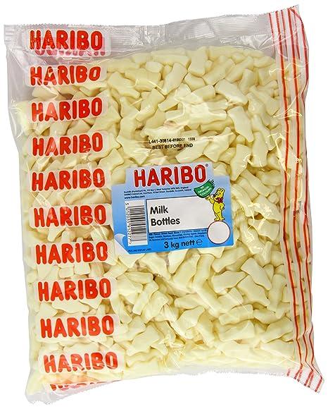 Haribo botellas de leche retras dulces para niños de 3 kg