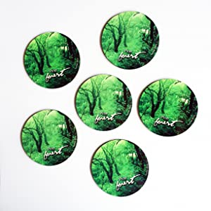 """HotMuggs """"Pine Forest in Himachal Pradesh"""" Wood Coaster Set, Set of 6, Multicolour"""