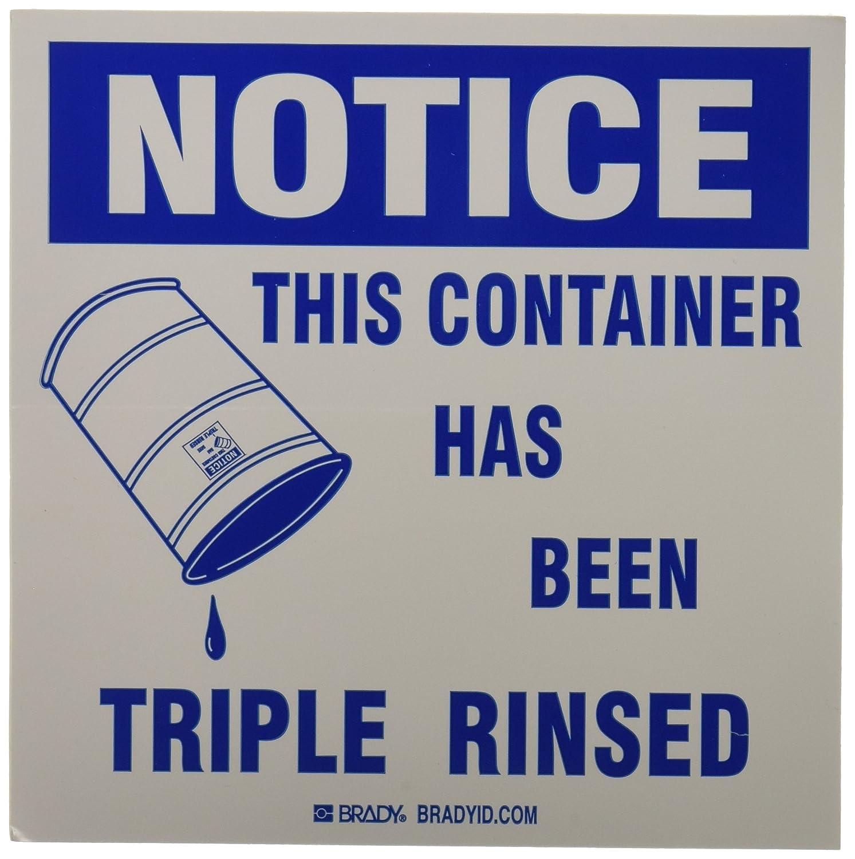 Brady 121436 B7569 Notice Label Blue//White 6 x 6 Size