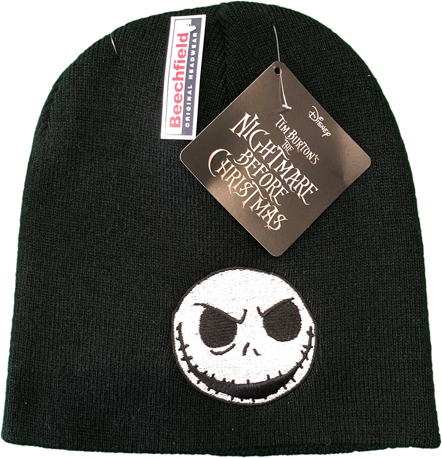 Nightmare Before Christmas Skull Official Embroidery Beanie Hat One ...