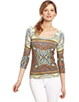 Evolution by Cyrus Women's 3/4 Sleeve Crew Neck Sweater
