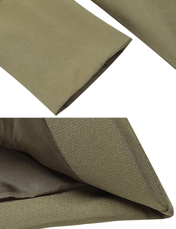 Zeagoo Womens Open Front Draped Asymmetric Padded Side Zip Pockets Blazer Jacket