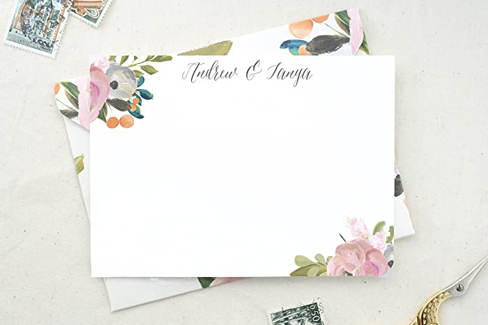 Amazon Com Couples Stationary Thank You Notes Future Mr And Mrs
