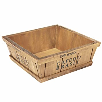 coffee themed decorative wooden storage display box for flowers plants jewelry supplies - Decorative Wooden Boxes