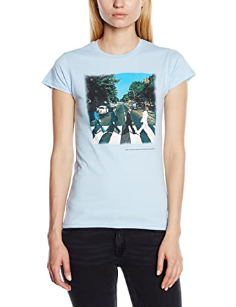 The Beatles Womens Abbey Road Short Sleeve T Shirt Blue Size 8
