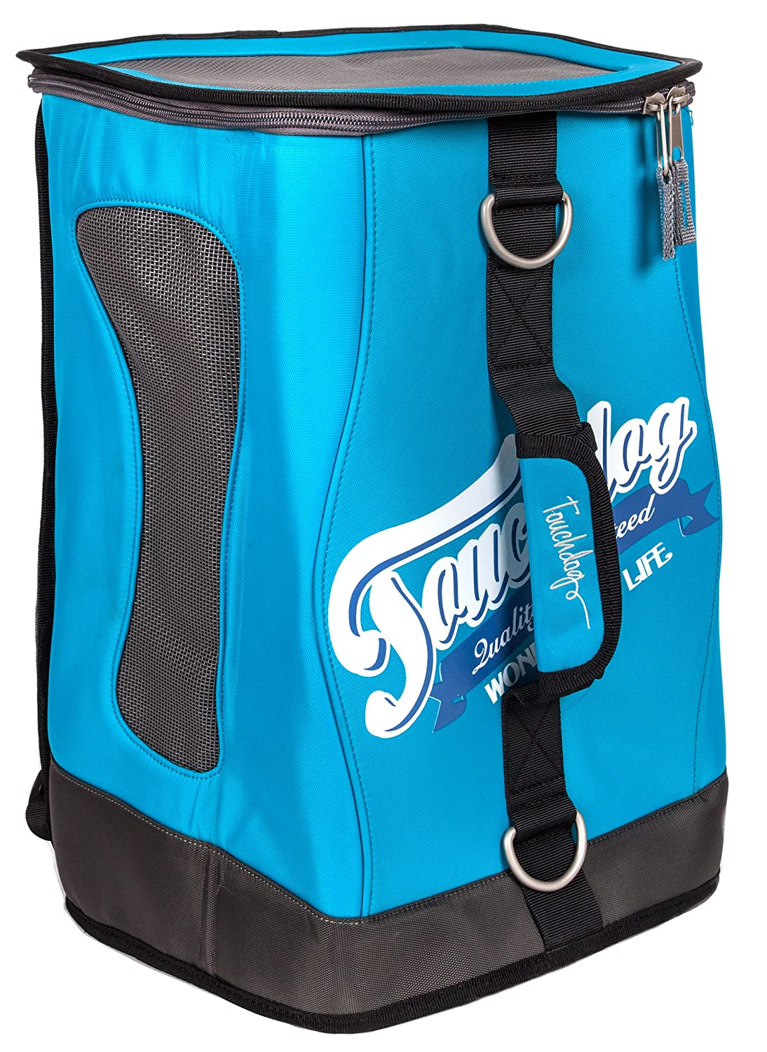 Turquoise bluee One Size Turquoise bluee One Size TOUCHDOG 'Ultimate-Travel' 3-in-1 Airline Approved Water Resistant Backpack, Handheld and Shoulder Sporty Fashion Pet Dog Carrier, One Size, Turquoise bluee