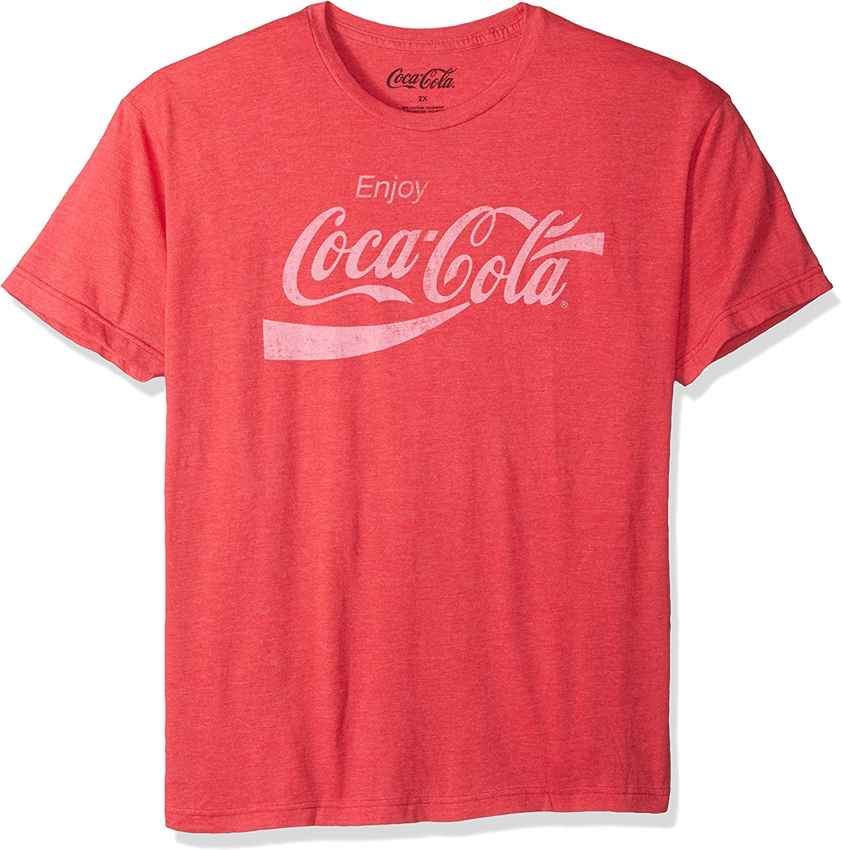 New Coca-Cola Enjoy a Coke Logo Red Classic Vintage Retro T-Shirt