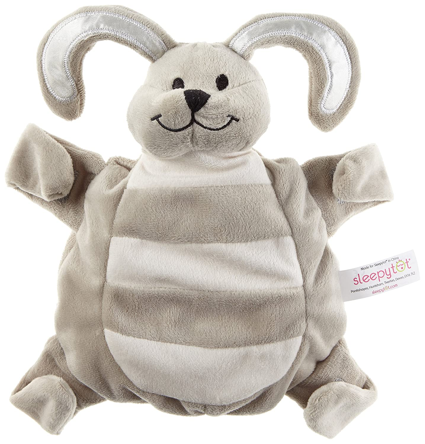 Sleepytot Bunny Comforter and Soother Holder, Baby Sleep Aid Attachable in Grey Sleepytot.com SLE101-GREY