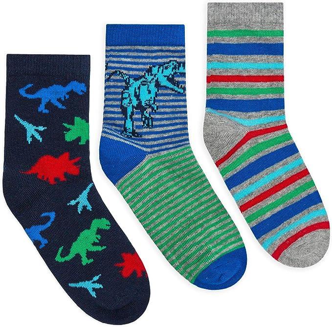 JollyRascals Boys Socks 3 Pairs Cars Ankle Socks Kids 3 PACK New UK Size 3-5 6-8 9-12 12-3
