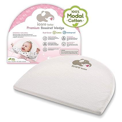 Amazon.com: Bassinet – Almohada para bebé para reflujo ácido ...