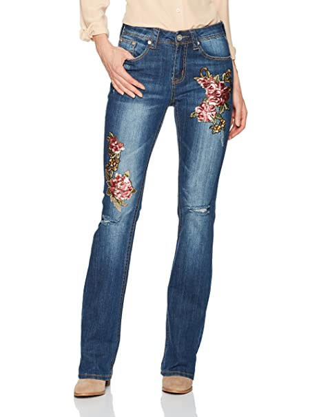 Amazon.com: Grace in LA - Pantalones vaqueros de corte bota ...