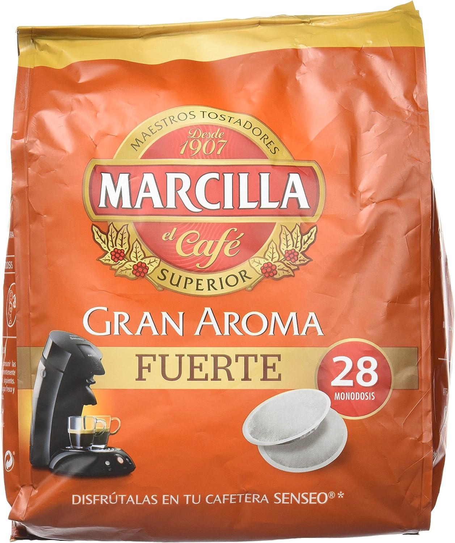 Marcilla Café Gran Aroma Fuerte - 140 Monodosis compatibles con ...