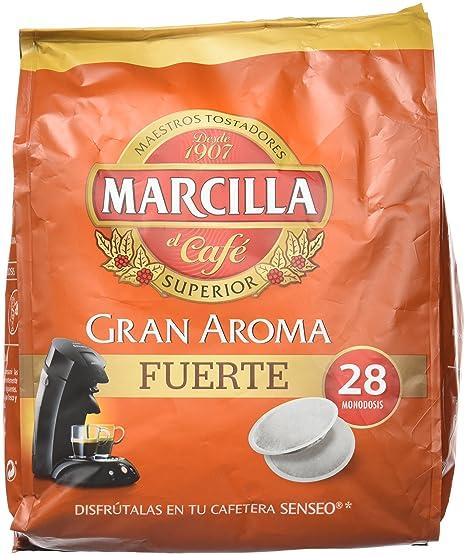 Marcilla Café Gran Aroma Fuerte - 140 Monodosis compatibles con las máquinas de café SENSEO®