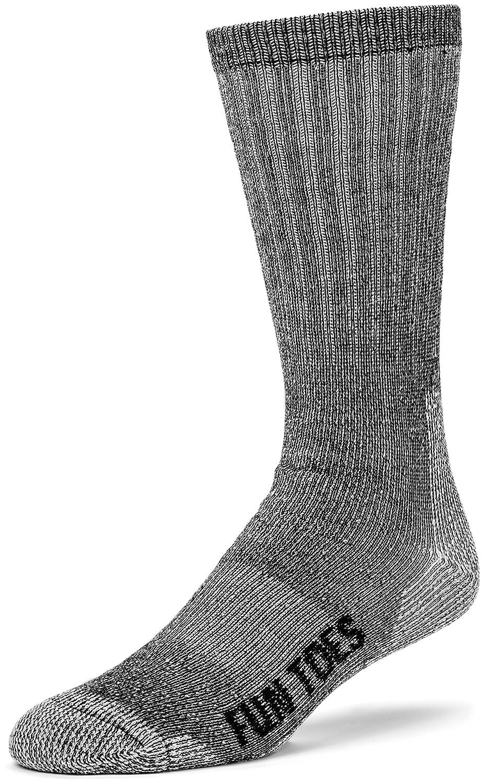 Hiking Size 8-12 FUN TOES 3 Pairs Thermal Insulated 80/% Merino Wool Socks Mens