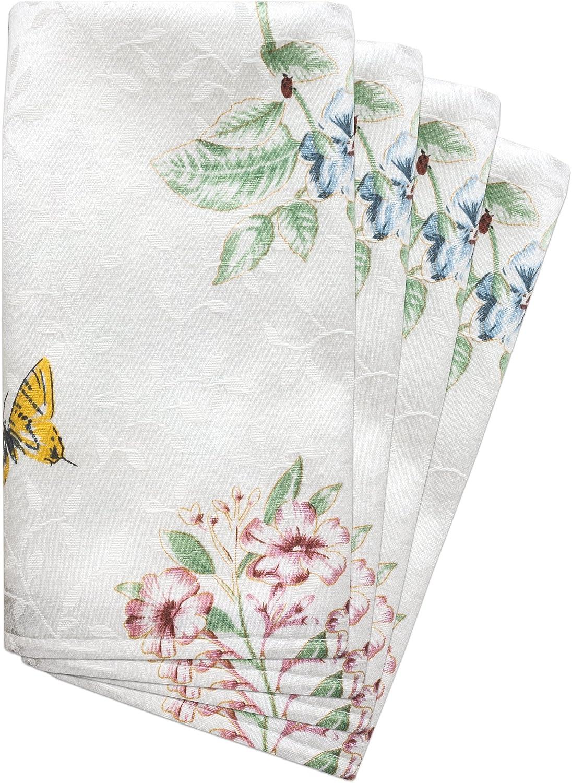 Lenox Butterfly Meadow Blue Set of 4 Napkins