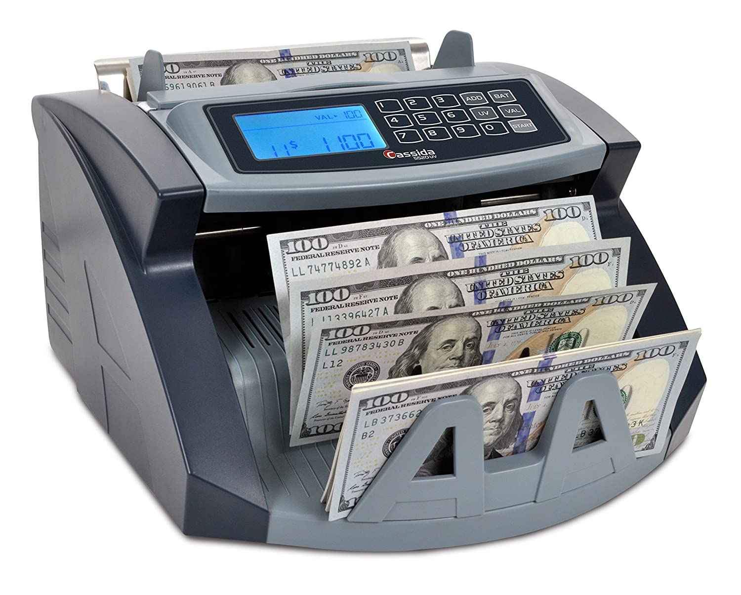Cassida USA Money Counter 5520 UV Counterfeit Bill Detection