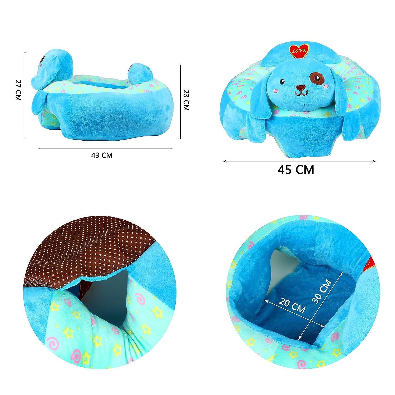 bequeme Baby-St/ützf/ütterungs-Sicherheits-Sofa-Pl/üsch-Geschenk-Spielwaren pflegt. Blue Dog Alpacasso-kreatives Baby das sicheren Sitz-Stuhl