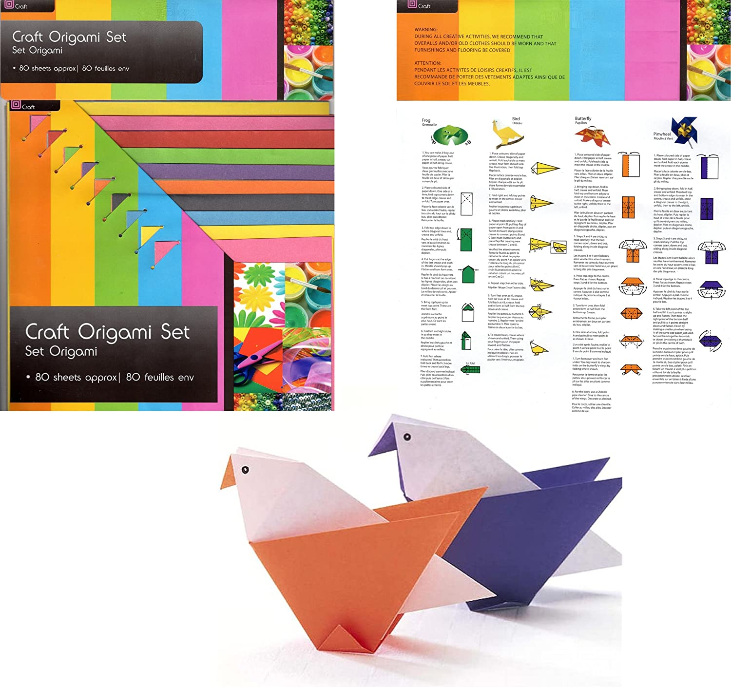 Art & Craft Origami Paper 70 Sheets (10 different colours and different sizes) Buy 1 Get 1 FREE [i.e. art craft school fun activity creativity] concept4u