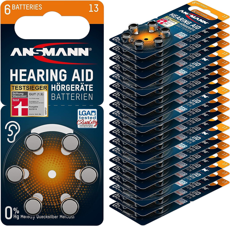 Ansmann Ag Ansmann Hörgerätebatterien 13 Typ 13 P13 Elektronik