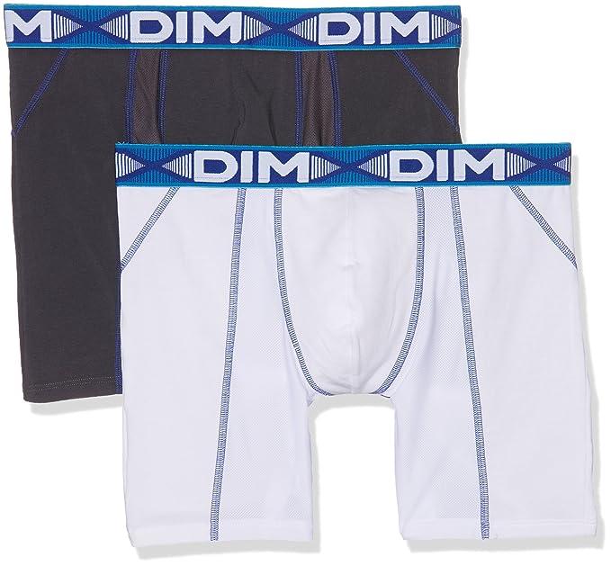 DIM Boxer 3D flex air long x 2, Hombre, Blanco, (Tamaño del