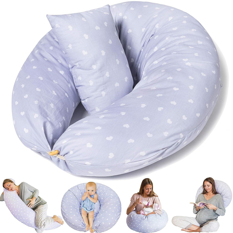 Bamibi/® Cale-b/éb/é Coussin dAllaitement et de Grossesse pour Dormir Polyvalent Coton Amovible et Lavable Taie 100/% Coton Pregnancy pillow Hypoallerg/énique