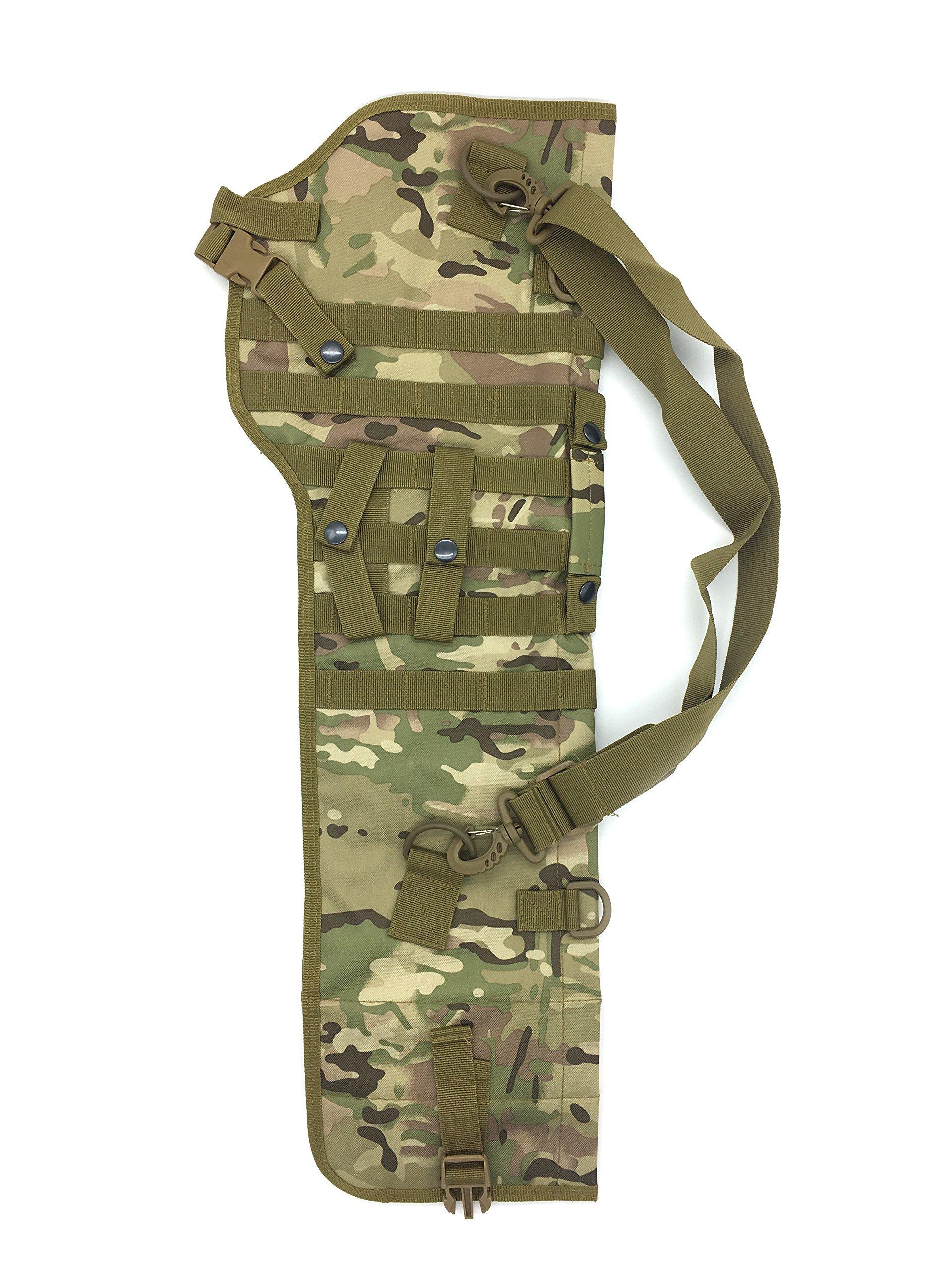 Silfrae Tactical Shotgun Rifle Scabbard Bag Shoulder Bag (Camo Brown) by Silfrae