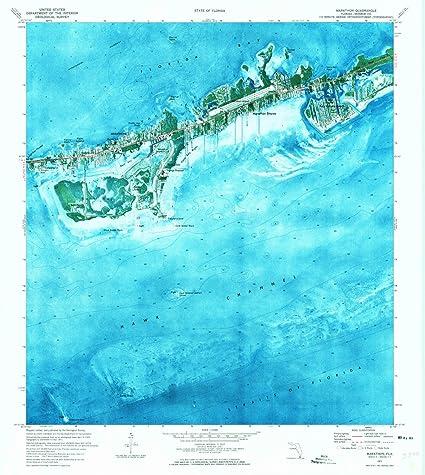 Marathon Florida Map.Amazon Com Florida Maps 1971 Marathon Fl Usgs Historical