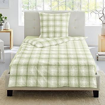Grün 135 X 200 Cm Seersucker Bettwäsche Ornamentic Ikat 100 Baumwolle