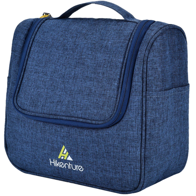 Kulturtasche zum Aufhängen von Hikenture - Camping Kulturbeutel für Damen und Herren - Waschbeutel Kosmetiktasche mit Haken - für Reisen, Urlaub, Outdoor (Blau) MUYEASON OUTDOOR
