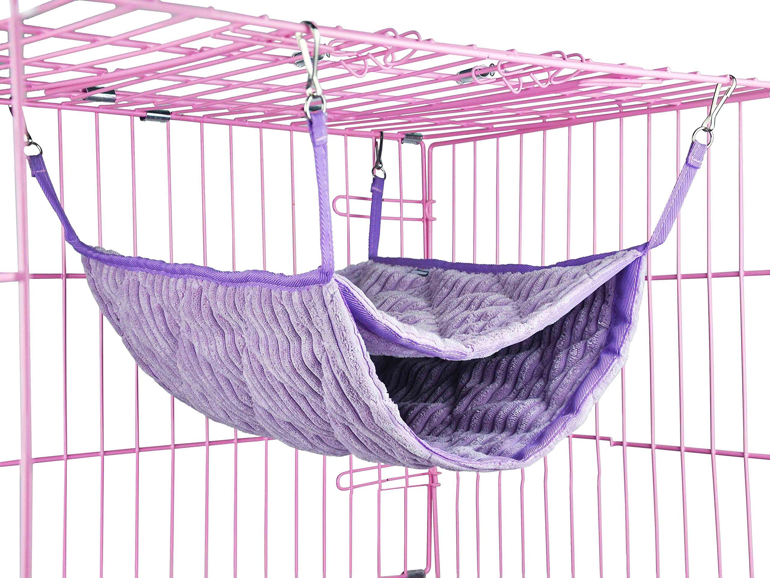 Niteangel Luxury Double Bunkbed Hammock, Fit 2 Adult Ferrets or 5 More Adult Rats (Purple) by Niteangel