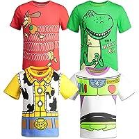 12fec9d96 Disney Pixar Toy Story Boys 4 Pack T-Shirts Woody Buzz Lightyear Rex Slinky  Dog