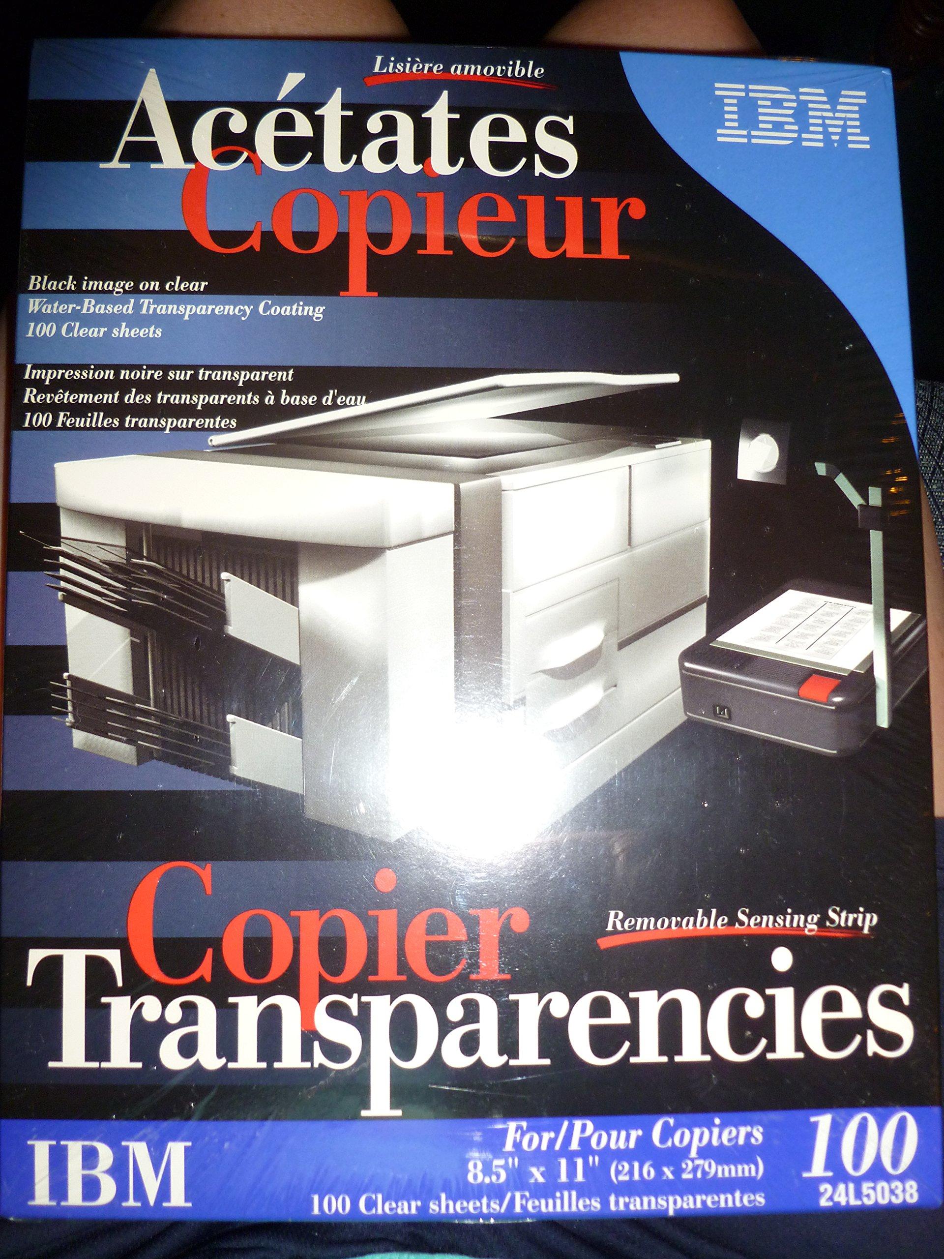 Ibm Copiers Transparencies 100 Qty.