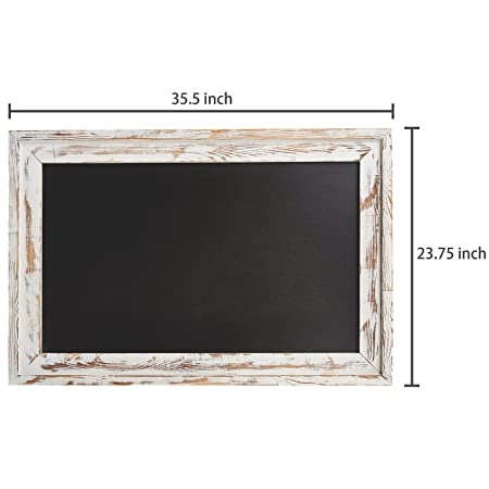 Amazon.com: MyGift - Pizarra con marco de madera rústica ...