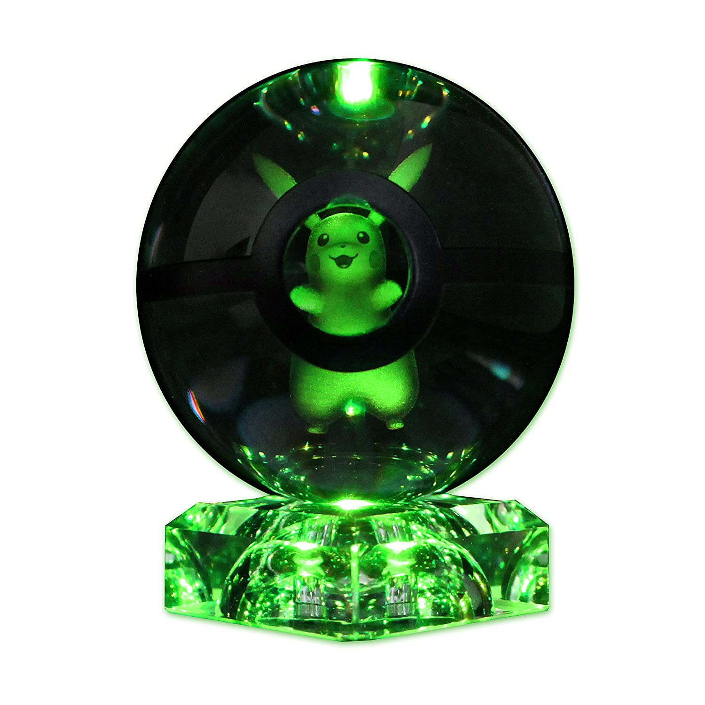 Amazon.com: Lámpara de mesa de cristal K9, en forma ...