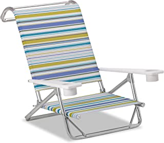 product image for Telescope Casual Striped Original Mini-Sun Coastline Anodized Sliver Finish Chaise (2 Pack), Multicolor