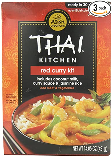 Thai Kitchen Red Curry Kit 14 85 Ounce Pack Of 3