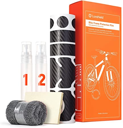 21 Teiliges Transparent Matt Lackschutzfolie Set Streben Rahmenschutz Fahrrad