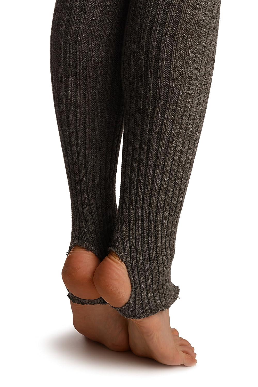 Grigio Scaldamuscoli LissKiss Dark Grey Stirrup Dance//Ballet Leg Warmers