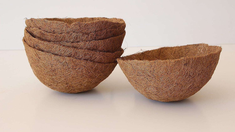 Pokugiardini, Vasi BiodegradabiliCocco Basket 3 Pezzi, Ø 30 cm Fibra di cocco