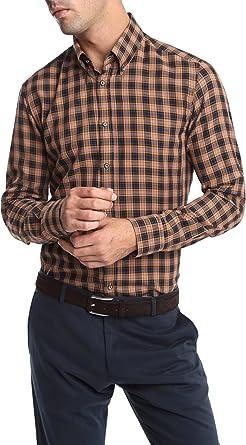 Caramelo, Camisa Sport Button Down Con Tira Para Remangar, Hombre · Naranja Quemado, talla XXL: Amazon.es: Ropa y accesorios