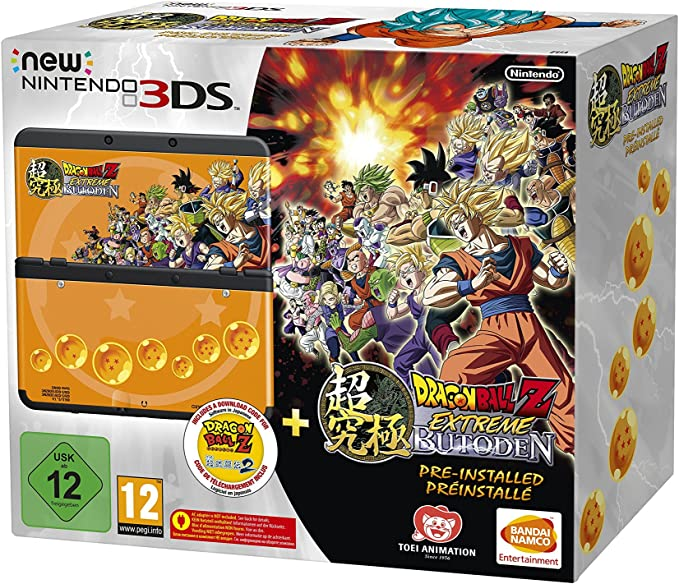 Nintendo New 3DS + Dragon Ball Z: Extreme Butoden Pack ...
